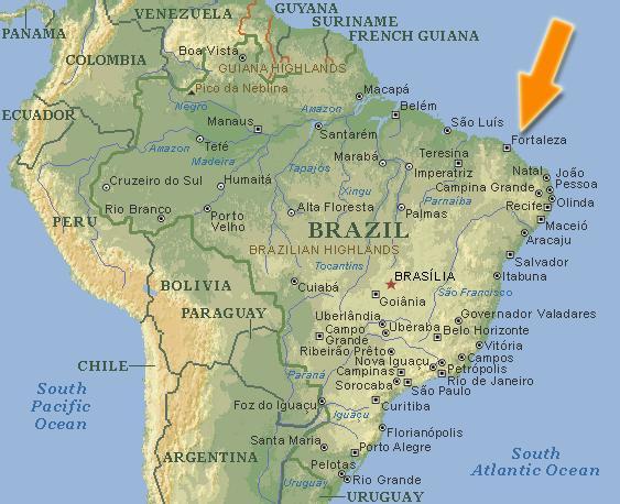 fortaleza-brazilië-kaart