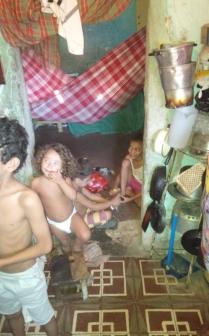 op bezoek in favela